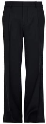 Burberry Straight Leg Wool Twill Trousers - Mens - Navy