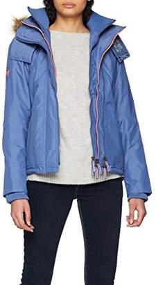 Superdry Women's G50000LPF2 Sports Jacket, (Light Blue Marl Fluro Cherry), (Size: Small)