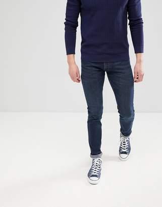 Lee Jeans Luke Skinny Jeans in Dark Worn Blue