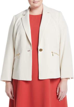 Kasper Plus Zip-Pocket Blazer Jacket, Plus Size
