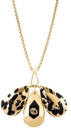 Christian Dior Animal Print Pendant Necklace