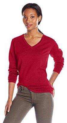 Dockers Women's V-Neck Cotton Sweater $18.03 thestylecure.com