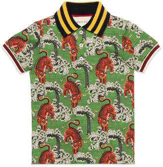 Children's polo with Gucci Bengal print $250 thestylecure.com