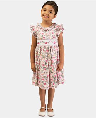 Bonnie Jean Toddler Girls Embroidered Smocked Waist Dress