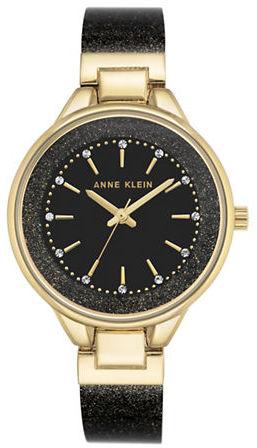 Anne KleinAnne Klein Swarovski Crystal Studded Analog Bracelet Watch