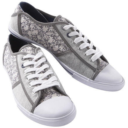 Jersey & canvas trainers