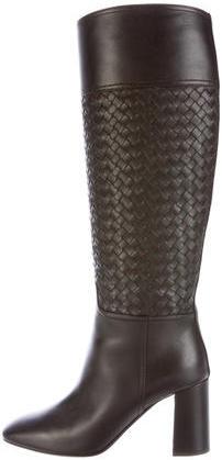 Bottega VenetaBottega Veneta Intrecciato Knee-High Boots