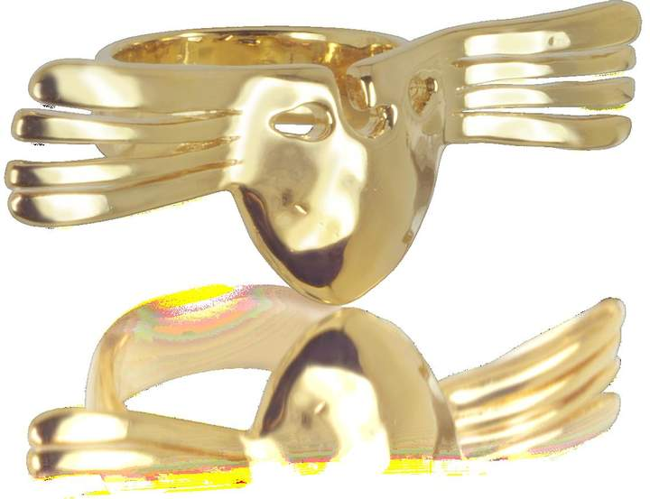 Aurelie Bidermann Melina Winged Mask Ring