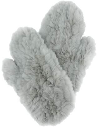 Yves Salomon Fur mittens