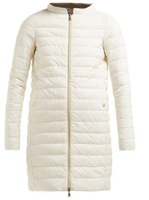 Herno Matte Quilted Down Jacket - Womens - White Multi