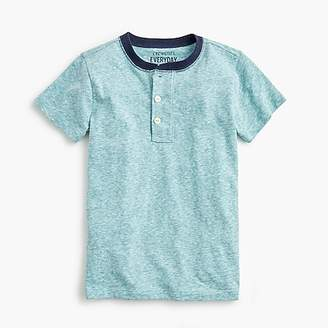 J.Crew Boys' short-sleeve ringer henley shirt