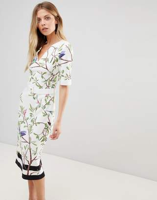 Ted Baker Evrely Bodycon Dress In Highgrove Print
