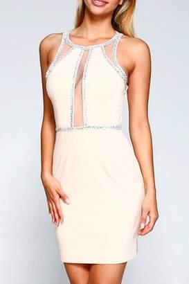 Minuet Embellished Illusion Detail Dress