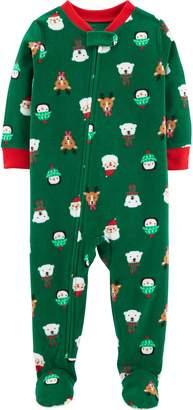 Carter's Baby Microfleece Christmas Footed Pajamas