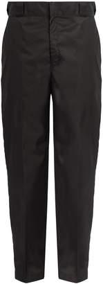 Prada Straight-leg nylon trousers