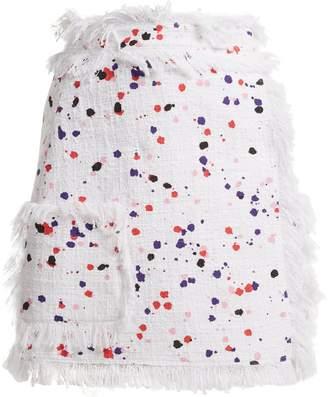 MSGM Printed cotton-blend skirt