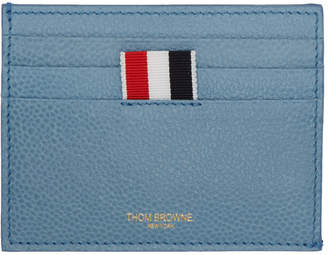 Thom Browne Blue Stripes Note Compartment Card Holder