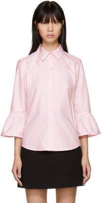 Marc Jacobs Pink Ruffle Sleeves Shirt