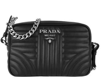 Prada Soft Calf Impunture Crossbody Nero