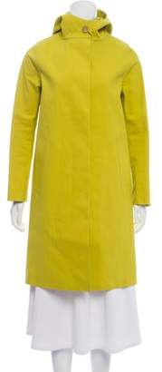 MACKINTOSH Hooded Knee-Length Raincoat w/ Tags