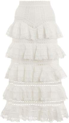 Zimmermann Heathers Pintuck Skirt