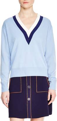 Sandro Nael Stripe Wool & Cashmere Sweater