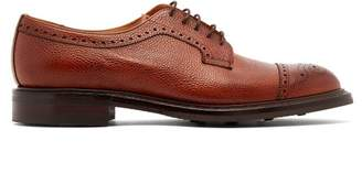 Cheaney Tenterden Grained Leather Shoes - Mens - Burgundy
