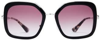 Prada Oversized Square Frame Acetate Sunglasses - Womens - Black