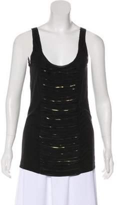 Diane von Furstenberg Sleeveless Embellished Top Black Sleeveless Embellished Top