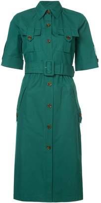 Derek Lam Short Sleeve Utility Shirt Dress