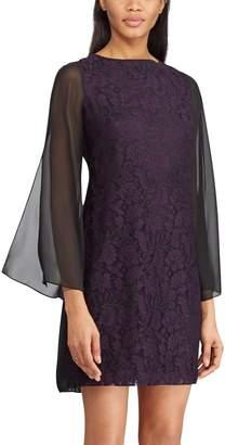 Chaps Women's Lace Bell-Sleeve Dress