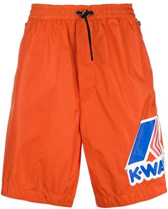 DSQUARED2 x K-Way basketball shorts