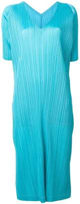Pleats Please Issey Miyake pleated flared midi dress