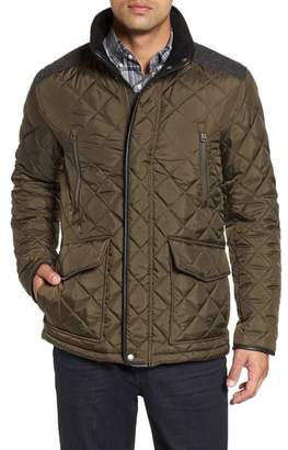 Cole Haan Herringbone Yoke Quilted Jacket