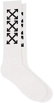 Off-White Men's Logo Stretch-Cotton Mid-Calf Socks