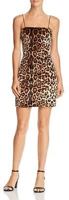 Aqua Leopard Print Velvet Dress - 100% Exclusive