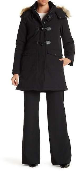 DKNYDKNY Faux Fur Hooded Toggle Parka Coat