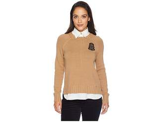 Lauren Ralph Lauren Petite Bullion Patch Layered Shirt