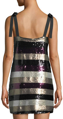 Ali & Jay I'm with Andi Striped Sequin Sheath Dress