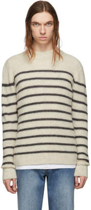 Isabel Marant Off-White and Grey Alpaca Wool George Jumper Sweater
