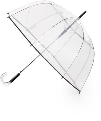 ShedRain Contrast-Trimmed Bubble Umbrella