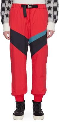 Facetasm Belted colourblock panel track pants