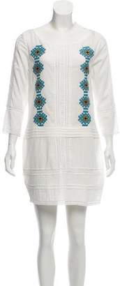 Pam & Gela Embroidered Mini Dress