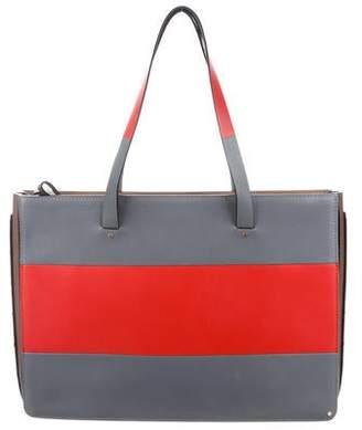 Valentino Striped Leather Tote Bag