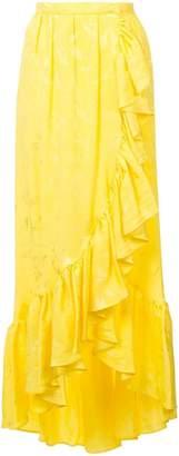 ATTICO long ruffled skirt