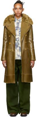 Chloé Brown Reversed Shearling Coat