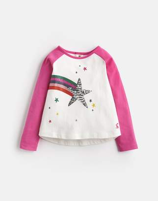 Joules Clothing Lorna Sequin Placement Jersey Tee 1yr