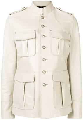 Saint Laurent military styled-jacket