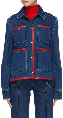 Acne Studios Leather trim patch pocket denim jacket
