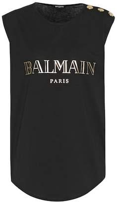 Balmain Printed cotton top